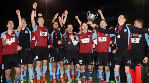 Kilkeel celebrated the club's first ever Kirk Cup triumph