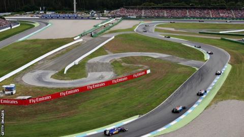 Hockenheim F1 circuit