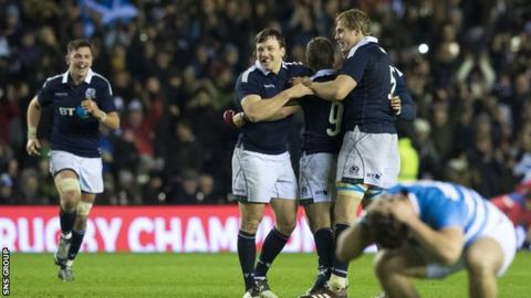 Scotland won with the last kick of the ball at Murrayfield