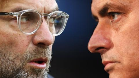 Liverpool manager Jurgen Klopp (left) and Manchester United counterpart Jose Mourinho