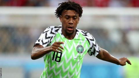 Arsenal and Nigeria's Alex Iwobi