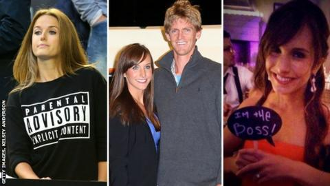 Kim Sears, Kelsey Anderson and Kevin Anderson