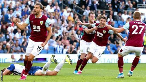 Jeff Hendrick celebrates scoring against Brighton