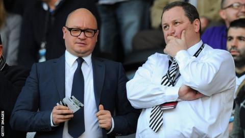 Newcastle owner Mike Ashley (right)