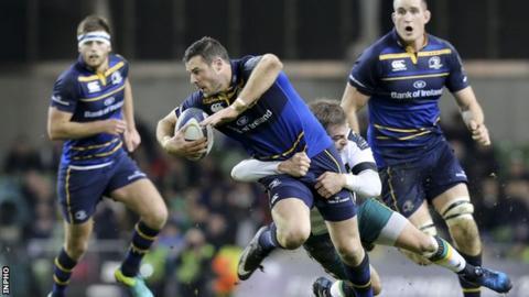 Northampton's Stephen Meyler tackles Leinster's Robbie Henshaw