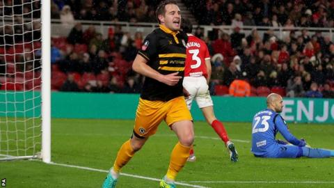 Newport County vs. Middlesbrough - Football Match Report