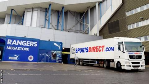 Sports Direct owned 75% of Rangers Retail Ltd for the duration of the loan