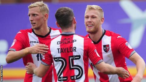 Exeter City celebrate