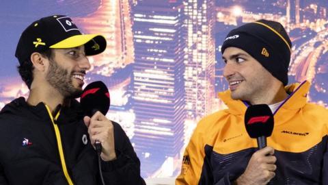 Daniel Ricciardo and Carlos Sainz