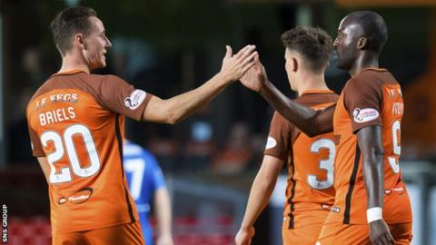 Dundee United beat Cowdenbeath in the opening round of the tournament