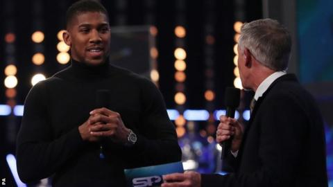 Joshua told BBC Sports Personality of the Year presenter Gary Lineker that a bout with Parker looks likely