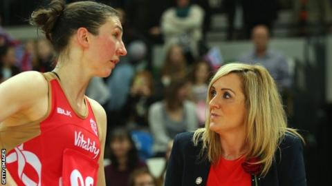 England coach Tracey Neville