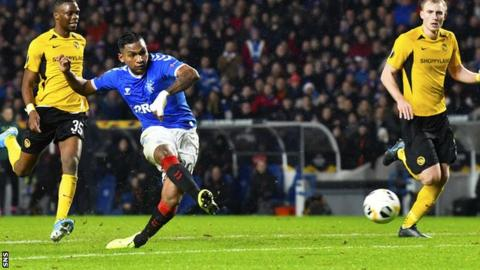 Morelos gave Rangers the lead with his sixth goal of the group stage