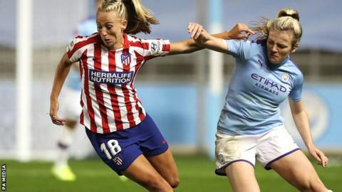 Women's Champions League: Manchester City 1-1 Atletico Madrid - home side held to draw