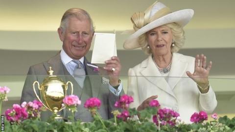 Prince Charles with the Duchess of Cornwall at Royal Ascot