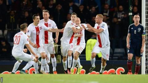 Poland players celebrating