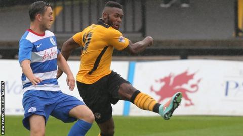 Newport County striker Lenell John-Lewis
