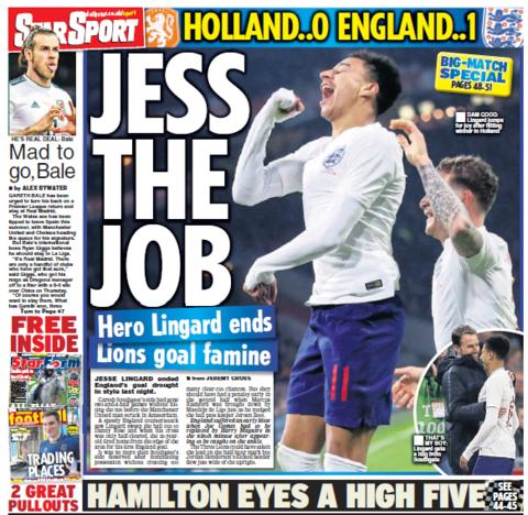Daily Star back page on Saturday