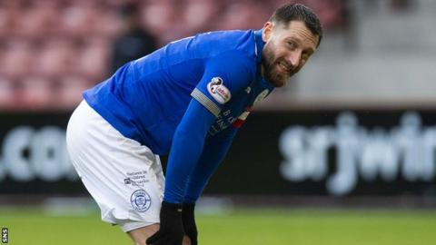 Queen of the South's Stephen Dobbie grimaces