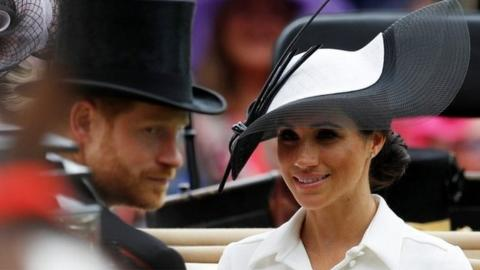 The Duke and Duchess of Sussex at Royal Ascot