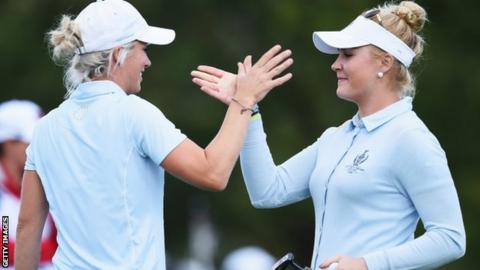 Melissa Reid and Charley Hull