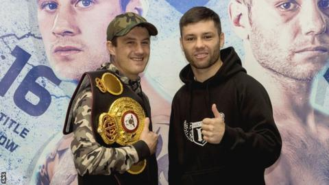 Ricky Burns and challenger Kiryl Relikh