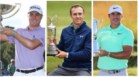 Brooks Koepka, Jordan Spieth and Justin Thomas