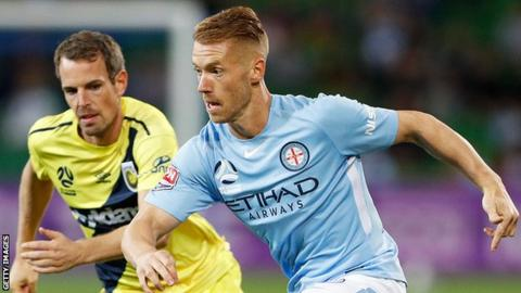Oliver Bozanic (right) in action for Melbourne City