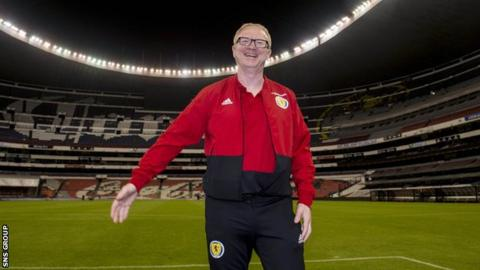 Scotland manager Alex McLeish at the Azteca Stadium