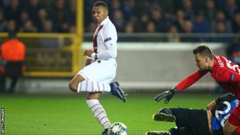 Kylian Mbappe breaks Lionel Messi's UEFA Champions League record with
