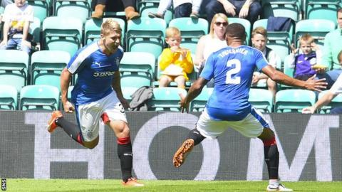 Rangers players Martyn Waghorn and James Travernier