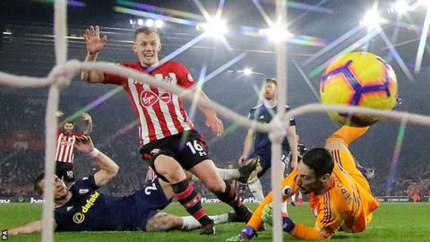James Ward-Prowse converted a rebound to give Southampton a cushion