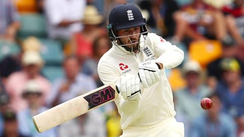 England's James Vince plays a pull shot
