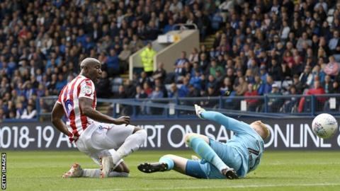 Benik Afobe's brace could not seal the win for Stoke