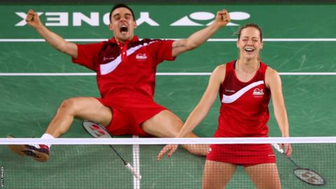 Chris and Gabby Adcock won Commonwealth Games gold in Glasgow in 2014