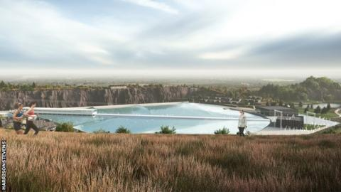 Image of proposed surf park