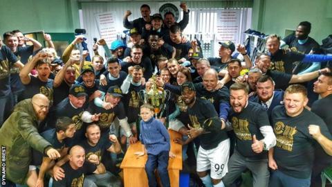 Dynamo Brest celebrate