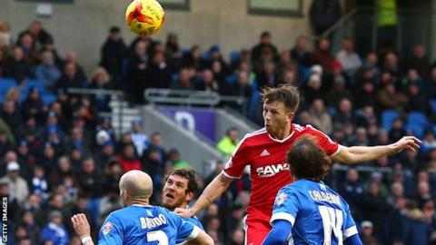 Danny Collins scores for Forest against Brighton last season