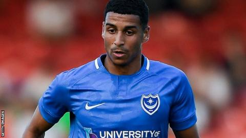 Louis Dennis in action for Portsmouth