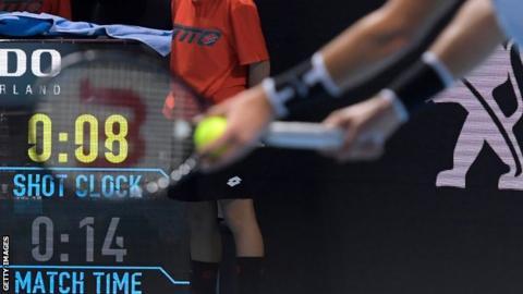 Tennis shot clock