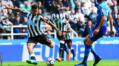 Kenedy shoots for Newcastle
