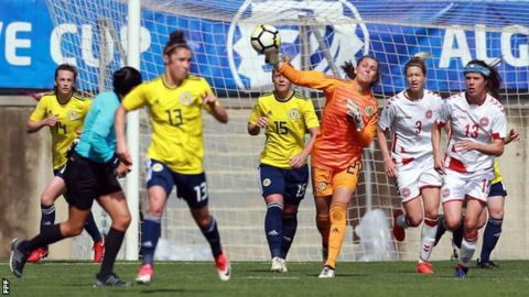 Scotland ended their Algarve Cup campaign with two wins and a narrow defeat
