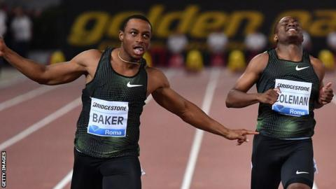 Ronnie Baker (left) and Christian Coleman