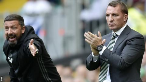 Aberdeen manager Derek McInnes and Celtic counterpart Brendan Rodgers