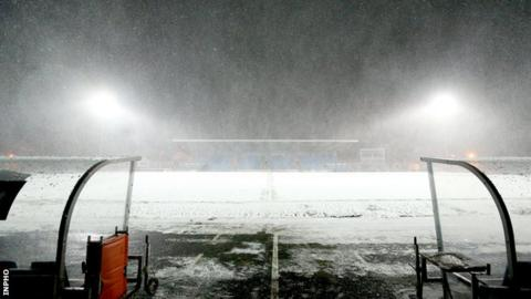 Tuesday's game was postponed two hours before the scheduled kick-of
