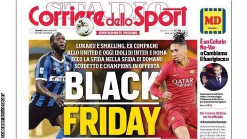Romelu Lukaku & Chris Smalling criticise 'Dusky Friday' headline thumbnail