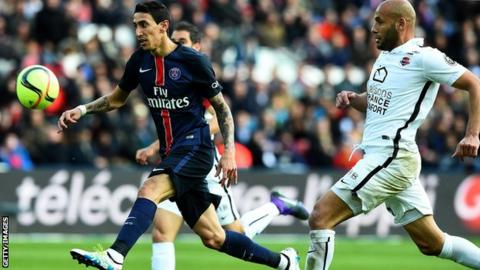 Angel di Maria scores for Paris St-Germain
