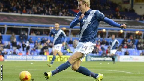 Birmingham striker Nicolai Brock-Madsen