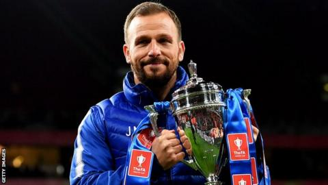 Jody Morris with the FA Youth Cup