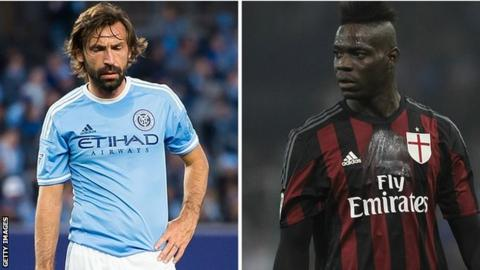 Andrea Pirlo and Mario Balotelli miss out on Italy squad